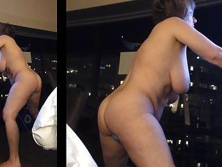 MarieRocks से होटल की खिड़की में हस्तमैथुन
