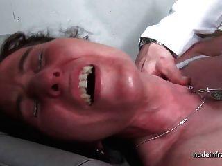 MMF सेक्सी परिपक्व हार्ड गुदा खामियों को दूर किया और फैली हुई