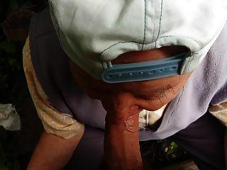 80 वर्षीय दादा ने मुझे चूसना