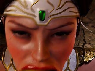 लड़की चेहरा goblins द्वारा गड़बड़ हो जाता है