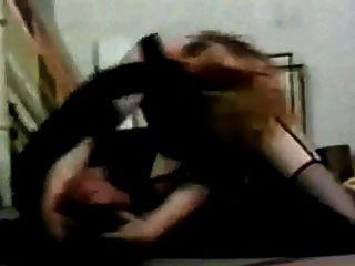 रेट्रो मोटा माँ Catfight