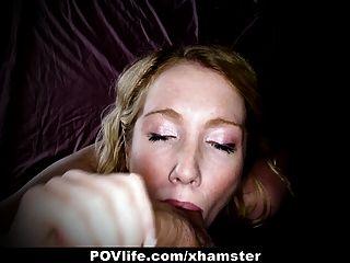 povlife - सींग का बना गोरा कैमरे पर पिछवाड़े में गड़बड़ हो जाता है!