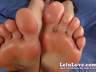 तलवों पर Lelu प्यार टॉपलेस पीओवी Footjob सह