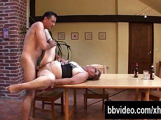 वसा जर्मन परिपक्व महिला डिक खाने