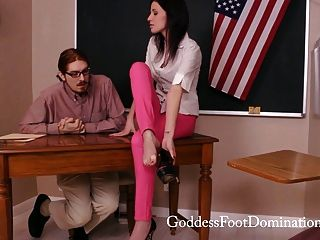 नियंत्रण के तहत शिक्षक - पैर बुत - Footjob