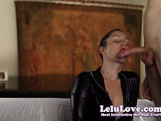 Lelu प्यार-Catsuit दस्ताने उलटी गिनती जो bj