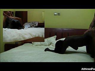 हॉट अफ्रीकी लड़की के साथ होटल सेक्स!
