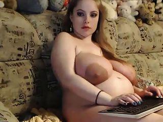 गर्भवती - बड़े स्तन वेब कैमरा 8