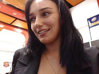जघन वेब कैमरा रेस्तरां चमकती महिला