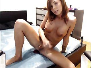 सुंदर Sienna कैम पर cums