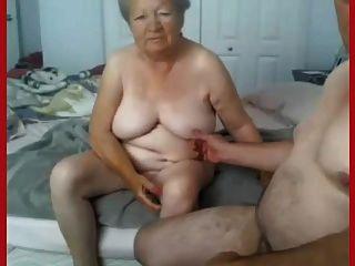 दादी और दादा कैम पर नग्न