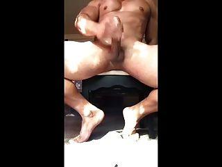 एक बड़ा मुर्गा जैक के साथ पुरुष एक बहुत बड़ा भार के साथ बंद muscled