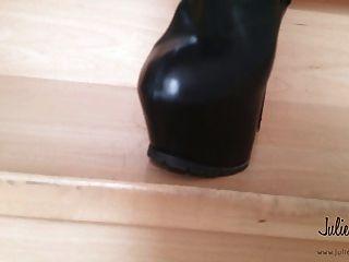 जूली Skyhigh बेचता खेतों में जांघ उच्च जूते पीवीसी चमड़े ईबे