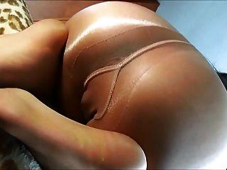 सनटैन Pantyhose गधे तंग