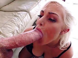 जेना आइवरी के साथ अविश्वसनीय राक्षस चेहरे cumshot