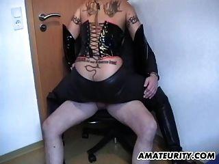 स्तन पर सह के साथ सेक्सी शौकिया milf प्रभुत्व बकवास