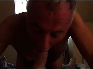 दादा 3in1-rimming, चूसने और गड़बड़ हो