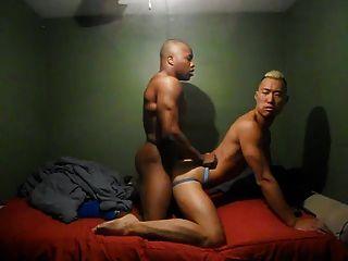 बिस्तर में कमबख्त गर्म समलैंगिक जोड़े
