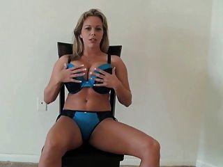बड़े स्तन आभासी पीओवी बकवास निर्देश के साथ milf