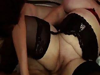 फ्रेंच बीबीडब्ल्यू 65yo दादी ओल्गा विशाल स्तन त्रिगुट पार्टी