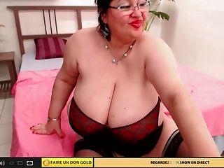 बड़ा titty वेब कैमरा दादी