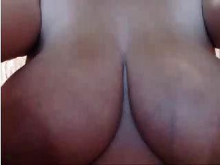 वेबकैम 2014 बड़े स्तनपान वाले कोलम्बियन स्तन भाग 1