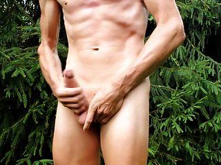 cumshot और मेरे नग्न शरीर और मुंडा लिंग