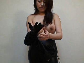 जापानी लेटेक्स catsuit 02