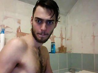 बाथ टब में dildo खेलने