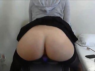 कुर्सी पर dildo बकवास
