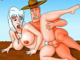 डर्टीस्ट पॉर्न पर फ़ुटुरामा और अन्य प्रसिद्ध कार्टून नायकों