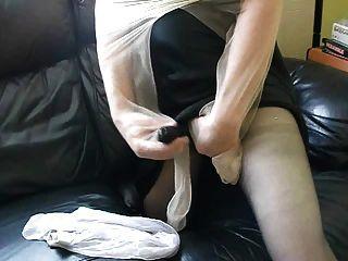 म्यान और सह के साथ pantyhose