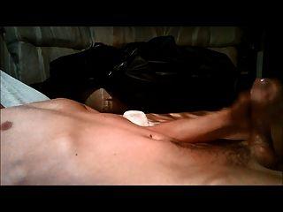 सहकर्मी द्वारा पीछा कई सूखी orgasms को masturbating