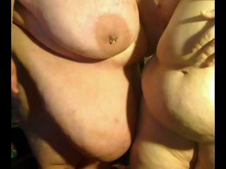 सींग का बड़ा मोटा BBW समलैंगिकों एक दूसरे के साथ खेल रहा है p4