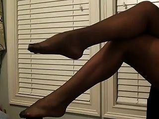 पैर बुत काले pantyhose