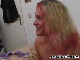 busty शौकिया किशोर प्रेमिका sucks और सिम के साथ fucks