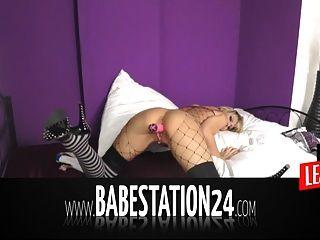 babestation24 कट्टर liveshow में गर्म जर्मन बेब
