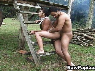 प्यारा लैटिनो समलैंगिक कठिन bareback कार्रवाई