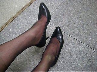 पेंटीहॉस पैरों पर सहारा बी 001