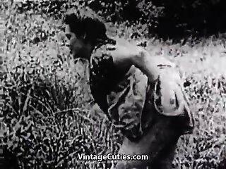 हरा घास का मैदान (1 9 30 के विंटेज) में कठिन सेक्स