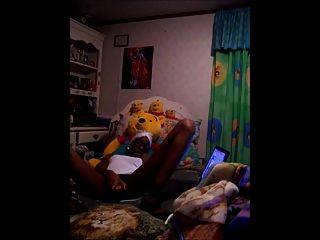 काले लड़की वेब कैमरा शो भाग 1