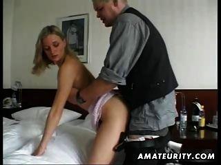 शौकिया प्रेमिका घर का बना हस्तमैथुन और सह के साथ बकवास