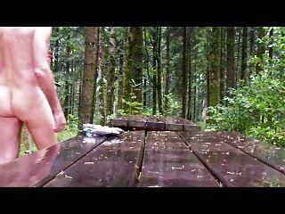 जंगल में बारिश के तहत आउटडोर बीडीएसएम