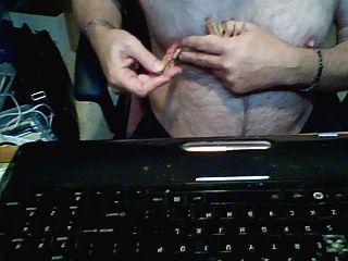 गधा जादू की छड़ी और सह में निप्पल यातना कांच dildo