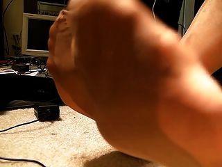 पूर्ण मोज़ा मोज़ा, पैर, जूता लटकना, कोई सह ..