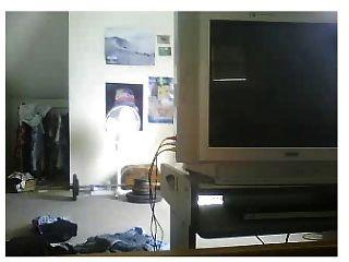 आदमी जाँघिया के साथ वेब कैमरा पर झटका बंद