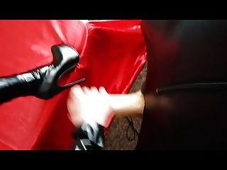 मालकिन जूते पर सह