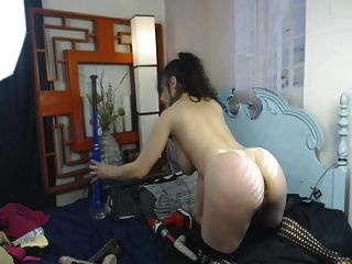 Busty बेब बड़े स्तन dildo के साथ उसे बिल्ली मुश्किल fucks