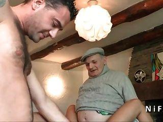 युवा panned फ्रेंच बेब बकवास मुश्किल 3 में पैपी के साथ