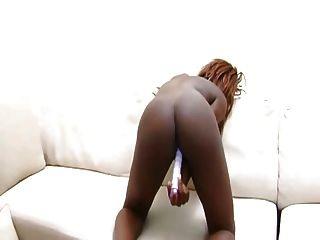 सोफे पर काली गधा